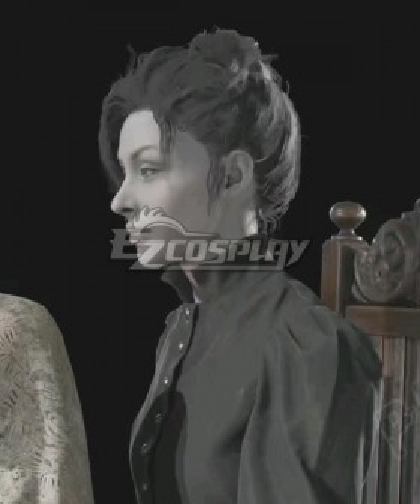 Resident Evil 8 Village Donna Beneviento Black Cosplay Wig