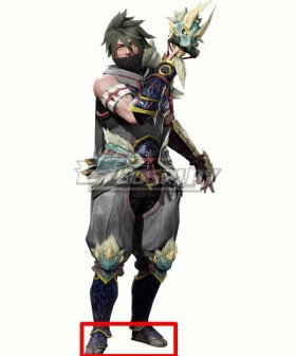 Monster Hunter Rise Master Utsushi Purple Cosplay Shoes