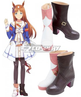Uma Musume: Pretty Derby Grass Wonder Pink Brown Shoes Cosplay Boots