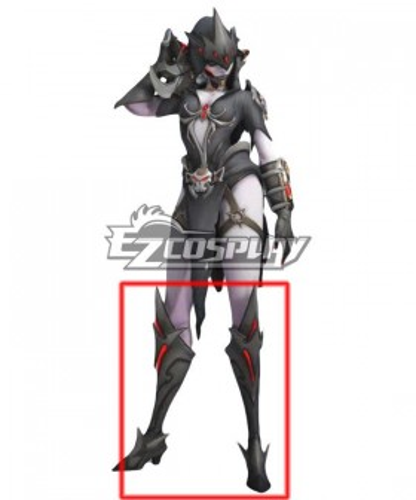 Overwatch Widowmaker Ange De La Mort Black Shoes Cosplay Boots
