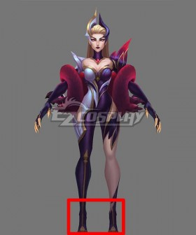 League of Legends LOL Coven Evelynn Black Cosplay Shoes