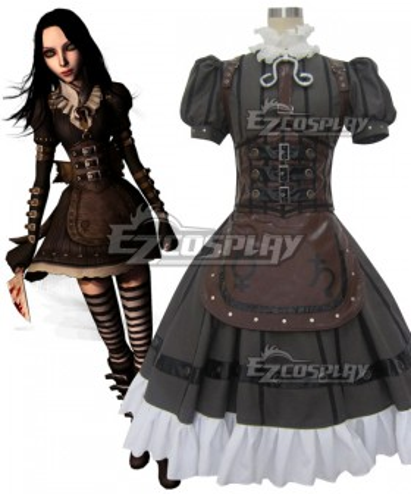 Alice: Madness Return Alice Punk Cosplay Costume