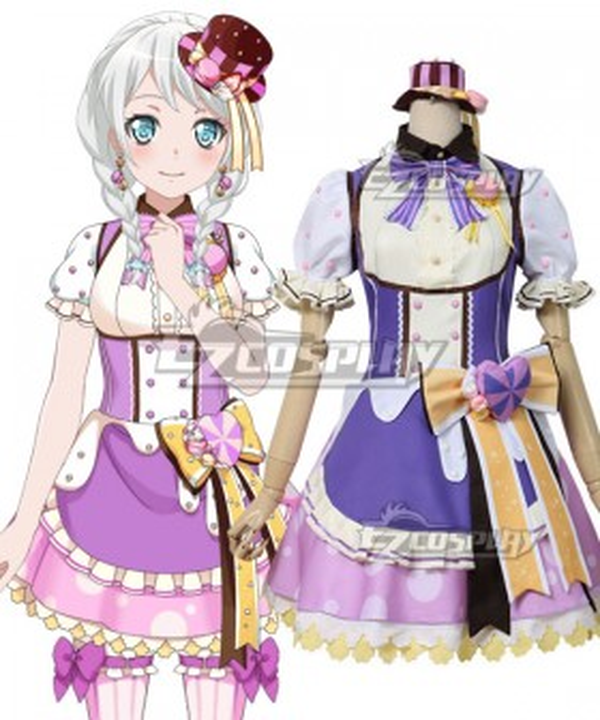 BanG Dream! Pastel*Palettes Wakamiya Eve Purple Cosplay Costume