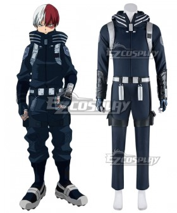 My Hero Academia Boku No Hero Akademia Shoto Todoroki Winter Suit Cosplay Costume