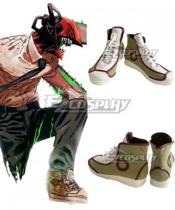 Chainsaw Man Denji Green Cosplay Shoes