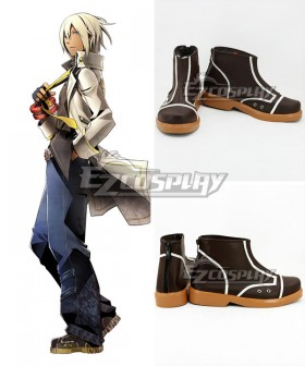 God Eater Soma Schicksal Brown Cosplay Shoes