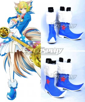 Show By Rock Shuzo Blue Shoes Cosplay Boots