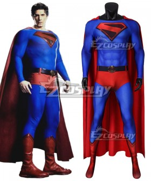 DC Crisis on Infinite Earths Superman Kal-El Zentai Jumpsuit Cosplay Costume