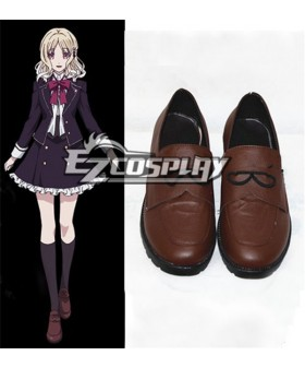 DIABOLIK LOVERS Komori Yui Brown Cosplay Shoes