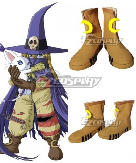 Digimon Adventure Wizarmon Brown Cosplay Shoes