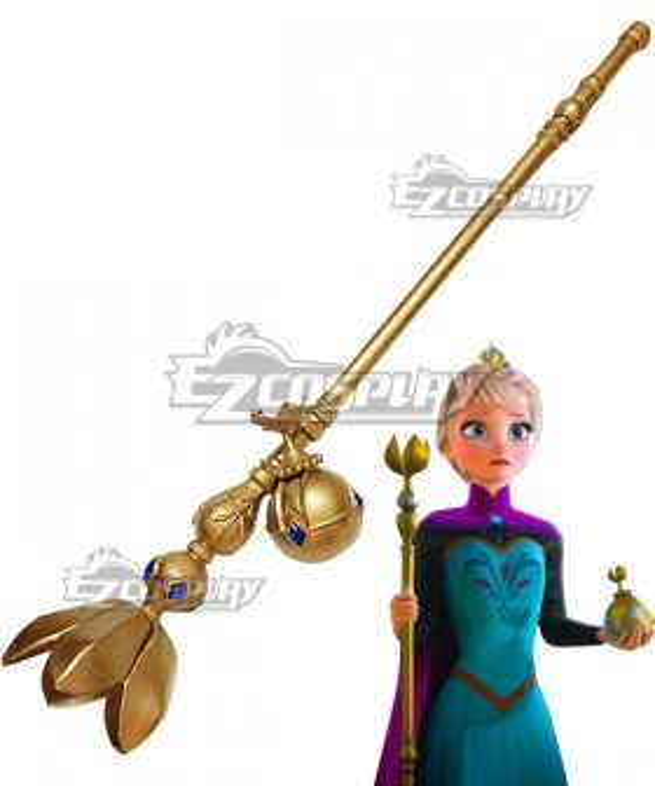 Disney Frozen Elsa Queen Crutch Ball Cosplay Weapon Prop