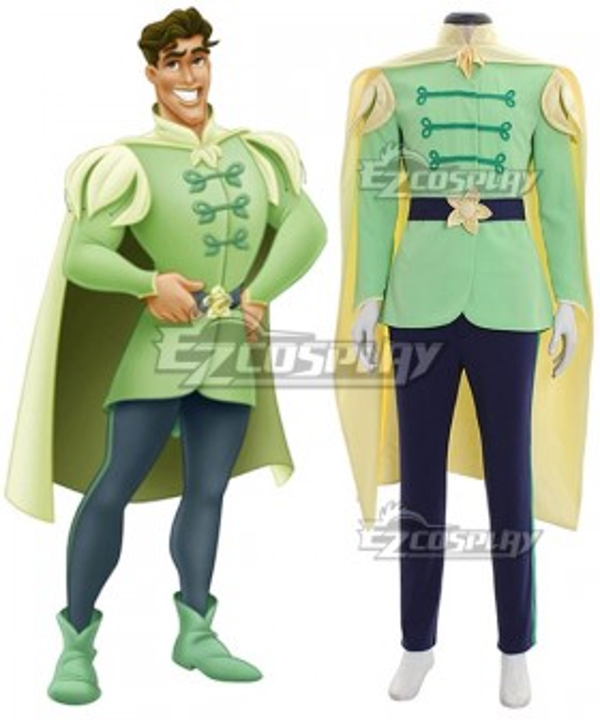 Disney Princess and the Frog Prince Naveen Cosplay Costume