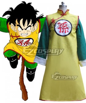 Dragon Ball Son Gohan Kid Cosplay Costume Goku Version - Extra Belt and Shoes cover