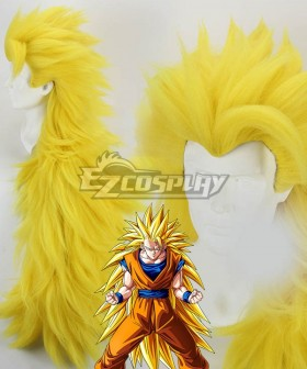 Dragon Ball Son Goku Kakarotto Golden Cosplay Wig