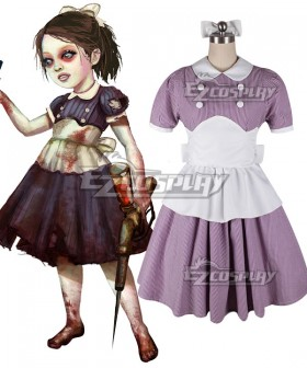 BioShock Little Sister Cosplay Costume - Pink