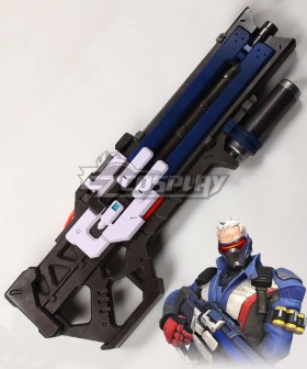 Overwatch OW Soldier 76 John Jack Morrison Heavy Pulse Rifle Gun Cosplay Weapon Prop