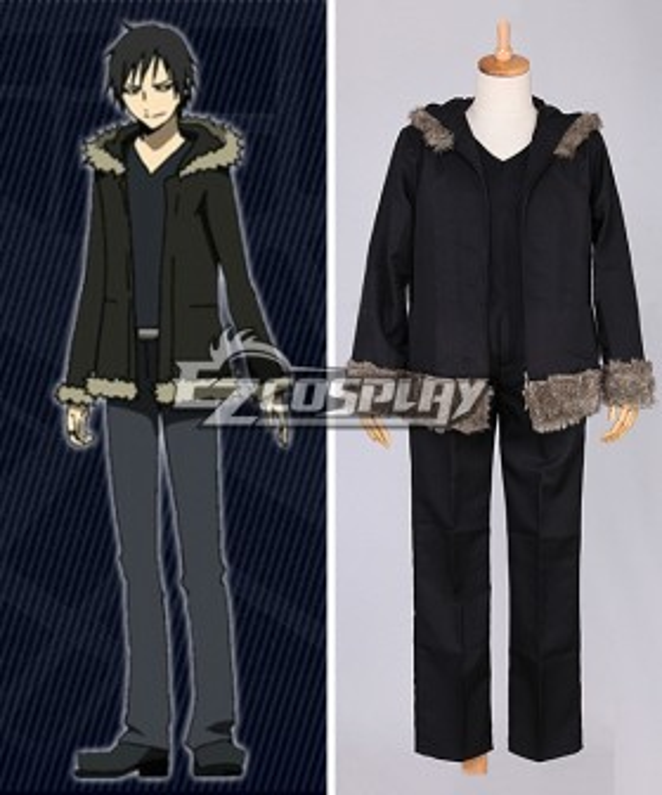 DuRaRaRa!! Orihara Izaya Black Cosplay Costume