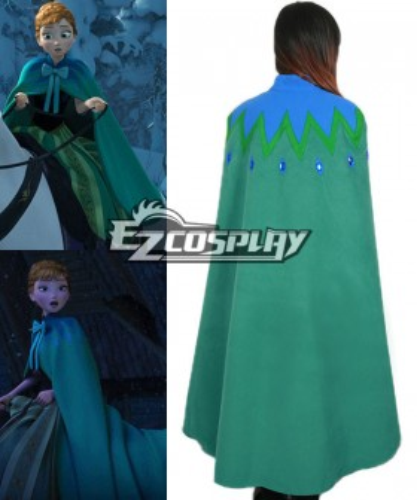Frozen Anna's Green Cape on Elsa's Coronation Day