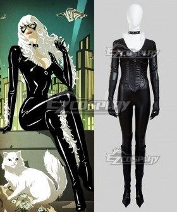 Marvel The Amazing Spider-Man Spider Man SpiderMan Black Cat Felicia Hardy Cosplay Costume