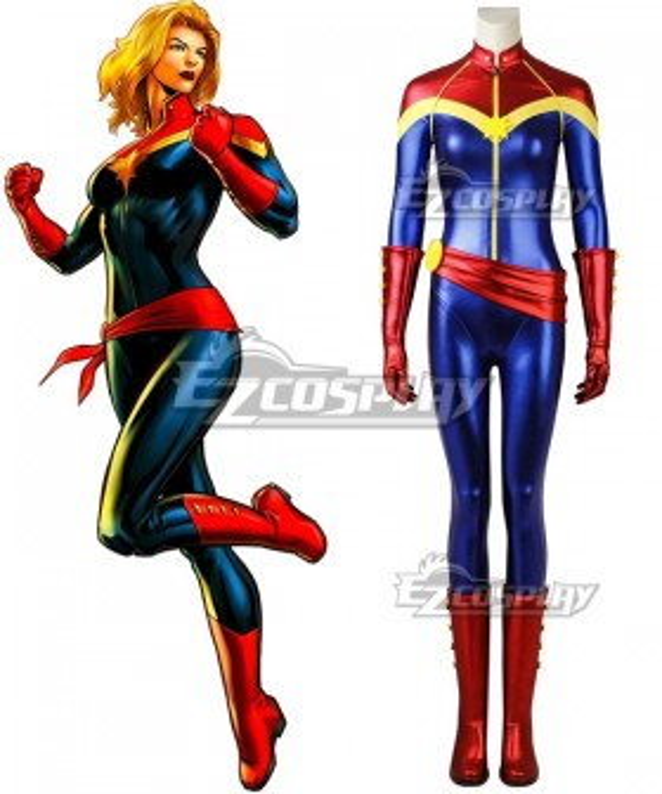 Marvel Captain Marvel Carol Danvers Cosplay Costume