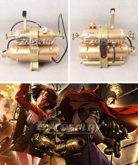 Kabaneri of the Iron Fortress Mumei Ikoma Steam Backpack Golden Cosplay Accessory Prop