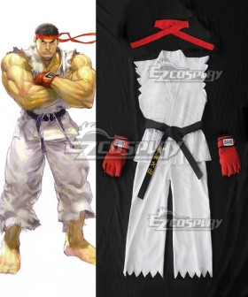 Street Fighter Ryu Adult White Cosplay Costume