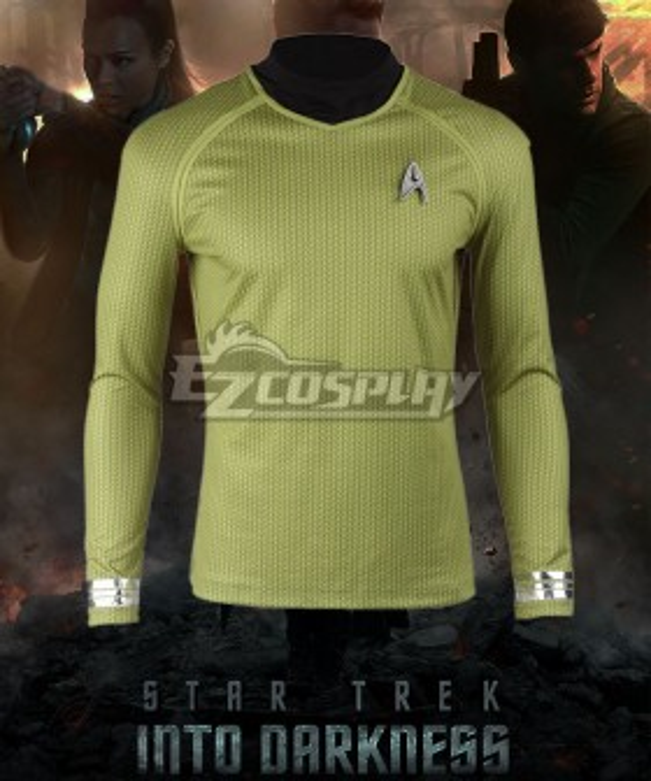 Star Trek Into Darkness James Tiberius Kirk Hikaru Sulu Yellow Top Cosplay Costume