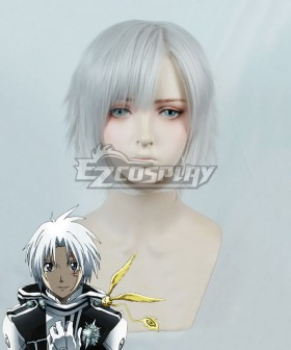 D.Gray Man Allen Walker Silver white Cosplay Wig