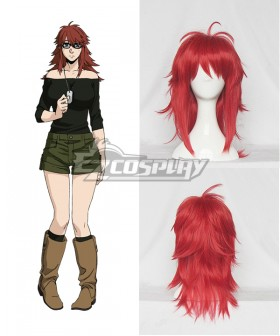 Gangsta Gyangusuta Ginger Dark Red Cosplay Wig