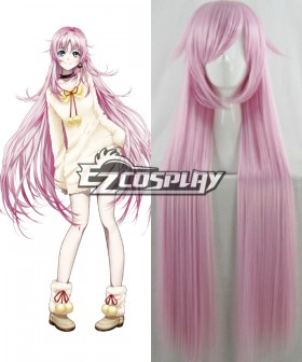 K Neko Long Straight Pink Cosplay Wig
