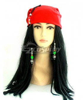 Pirates of the Caribbean Female Pirates Halloween Black Cosplay Wig - Not Including Kerchief