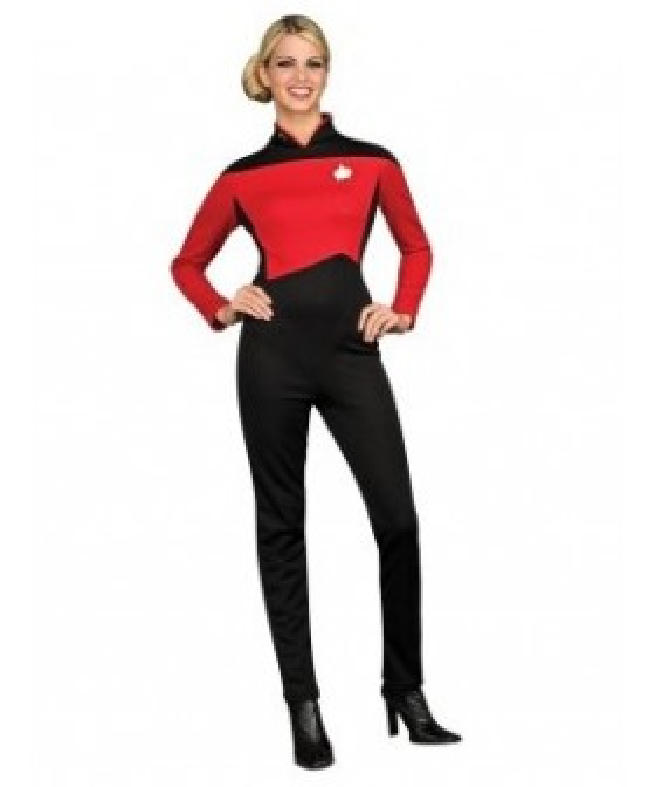 Star Trek Next Generation Red Jumpsuit Deluxe Adult Costume EST0013