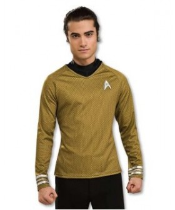 Star Trek Movie 2009 Grand Heritage Gold Shirt Adult Costume