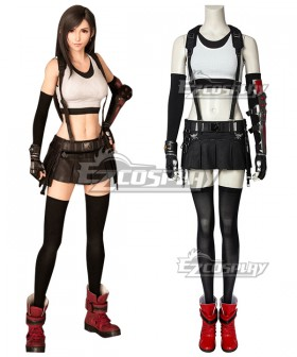 Final Fantasy VII Remake FF7 Tifa Lockhart Cosplay Costume