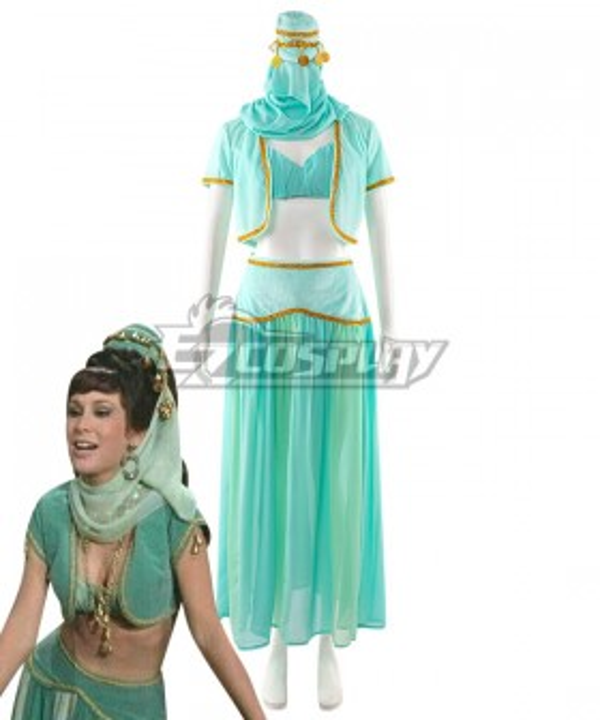 I Dream of Jeannie Jeannie's Sister Jeannie II Green Dress Cosplay Costume