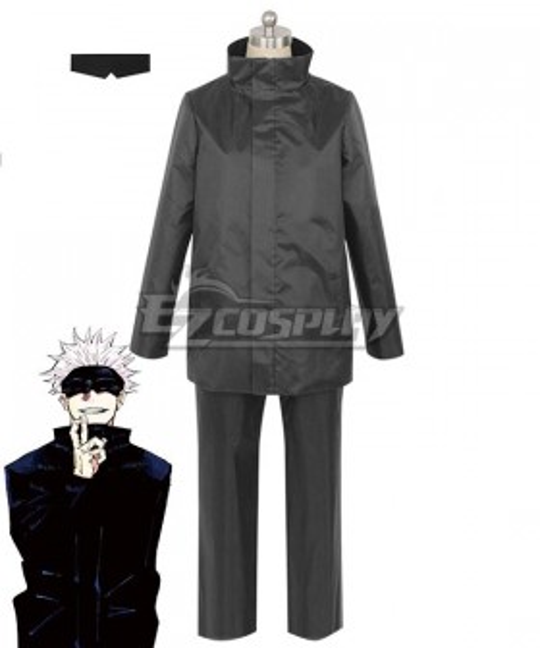 Jujutsu Kaisen Sorcery Fight Satoru Gojo Black Cosplay Costume