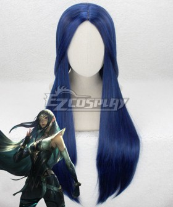 League of Legends LOL Sentinel Irelia Black Cosplay Wig