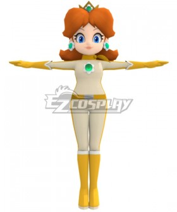 Mario Kart 8 Princess Daisy Bikesuit Cosplay Costume