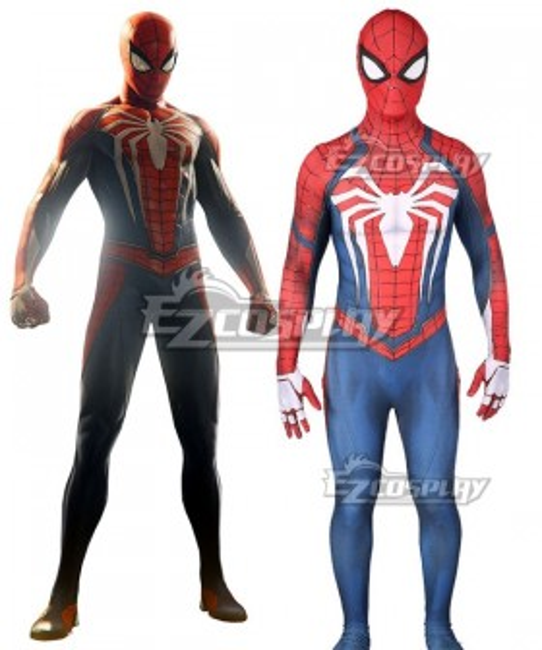 Marvel 2018 Video Game PS4 Spider Man Peter Parker Spandex Jumpsuit Cosplay Costume