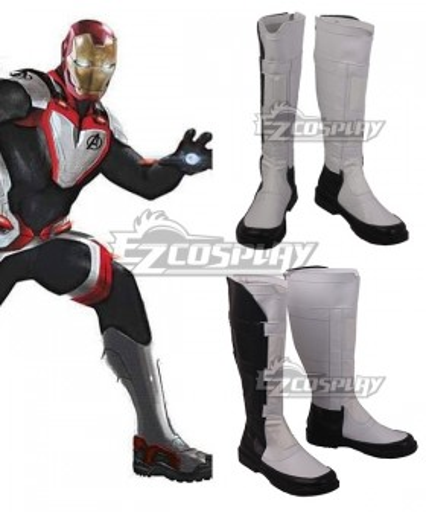 Marvel Avengers: Endgame Avengers Superhero Battle Suit White Shoes Cosplay Boots