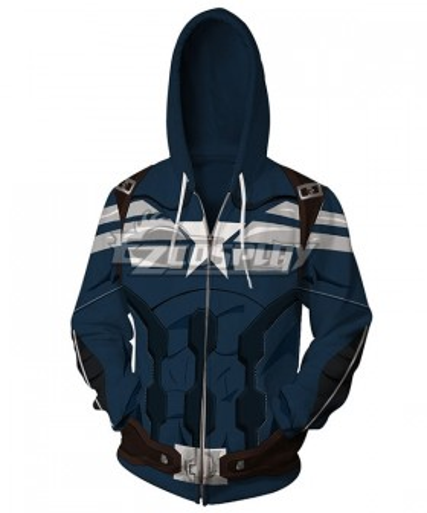 Marvel Captain America The Winter Soldier Steven Rogers Coat Hoodie Cosplay Costume