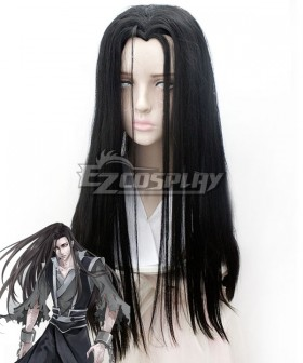 The Grandmaster of Demonic Cultivation Mo Dao Zu Shi Wen Ning Ghost General Black Cosplay Wig