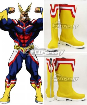 My Hero Academia Boku no Hero Akademia All Might Yellow Shoes Cosplay Boots