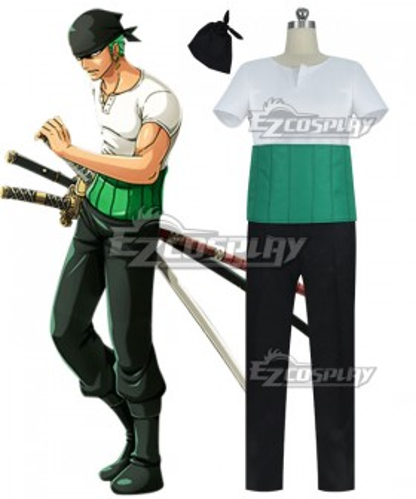 One Piece Roronoa Zoro Cosplay Costume-New Edition