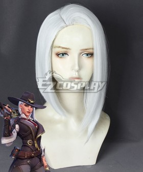 Overwatch OW New Hero Ashe White Cosplay Wig