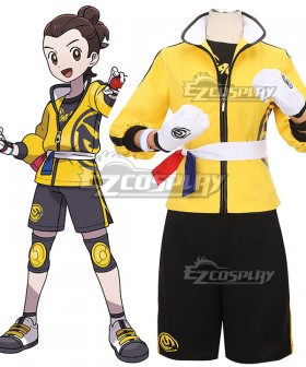 Pokemon Pokémon Sword and Pokémon Shield Male Trainer Victor The Isle of Armor Cosplay Costume