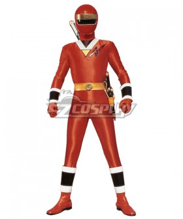 Power Rangers Ninja Sentai Kakuranger NinjaRed Cosplay Costume