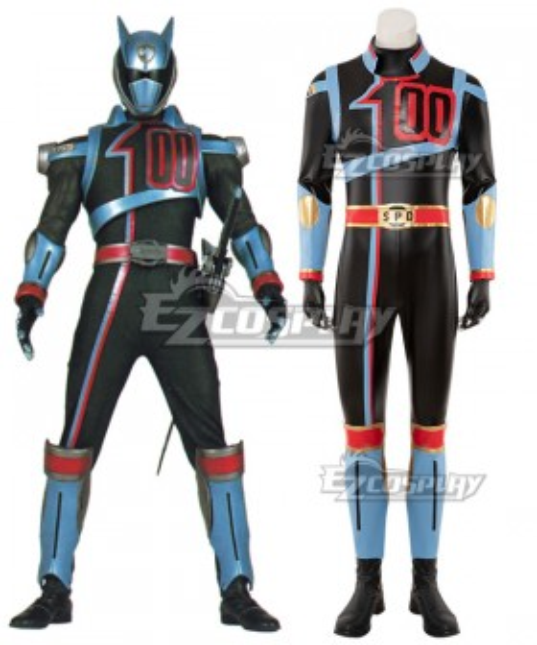 Power Rangers S.P.D. SPD Shadow Ranger Cosplay Costume