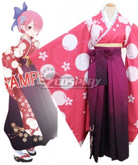 Re: Life In A DiffeRent World From Zero Ram Kimono Cosplay Costume