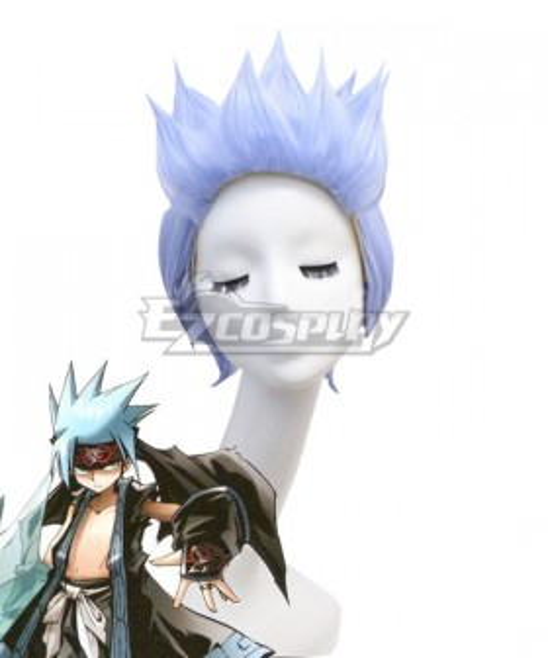 Shaman King Horohoro Blue Cosplay Wig